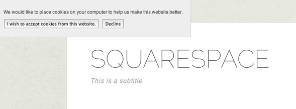 Adding A Cookie Banner In Squarespace 5 Squarespace5