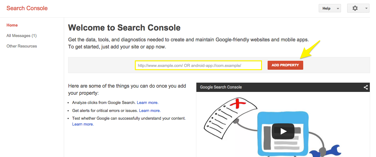 Verifying your site with Google Search Console – Squarespace5