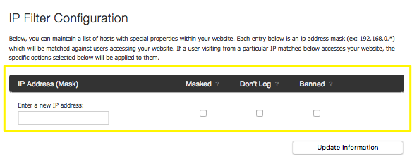 Banning, excluding, and masking IP addresses – Squarespace5