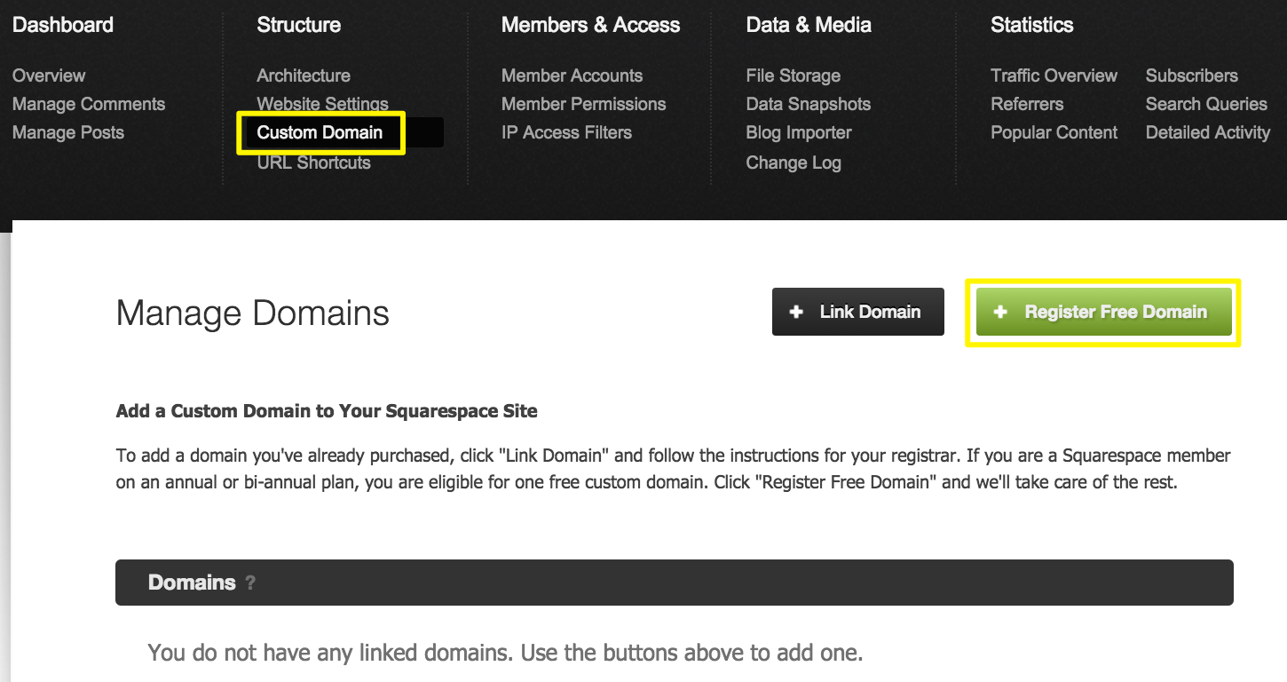 Squarespace Help - Registering a domain through Squarespace ...
