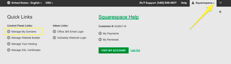 Squarespace 5 Help - Connecting a GoDaddy domain to your Squarespace
